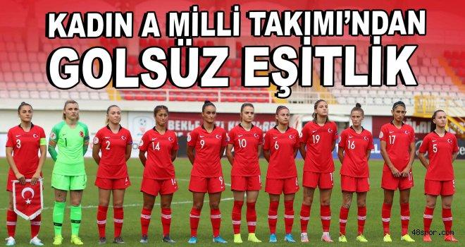 Kadın A Milli Takımı, Estonya ile 0-0 berabere kaldı