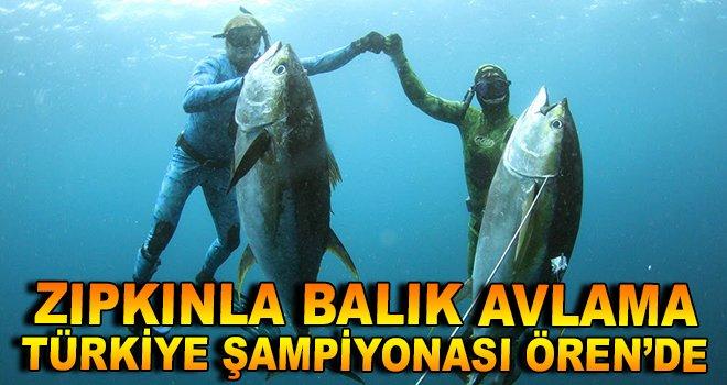 Zıpkınla Balık Avlama Şampiyonası Ören'de