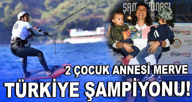 2 çocuk annesi Türkiye şampiyonu