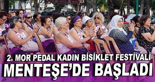 2. Mor Pedal Kadın Bisiklet Festivali  Menteşe'de başladı