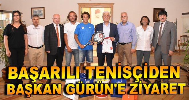 Başarılı Tenisçiden Başkan Gürün'e Ziyaret