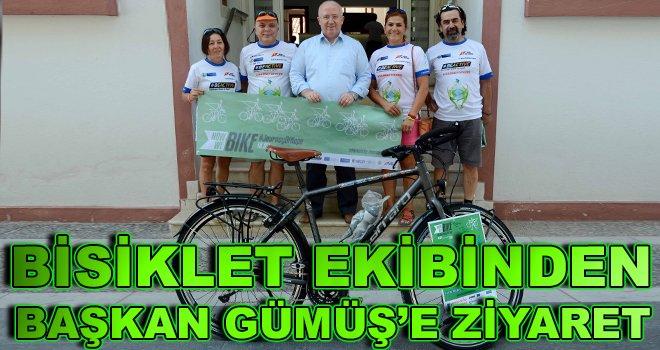 Bisiklet Ekibinden Başkan Gümüş'e Ziyaret
