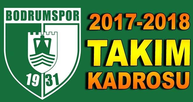 Bodrumspor 2017-2018 takım kadrosu