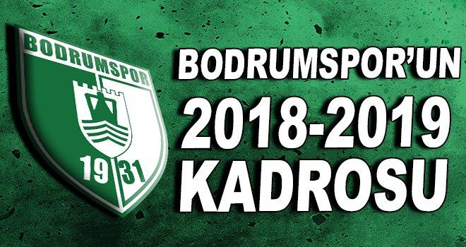 Bodrumspor'un 2018-2019 kadrosu