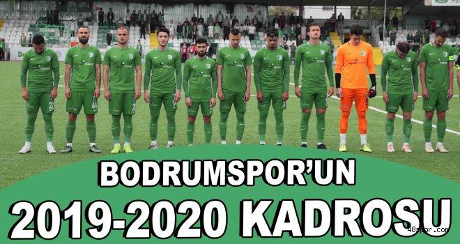 Bodrumspor'un 2019-2020 kadrosu