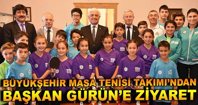 Büyükşehir Masa Tenisi Takımı'ndan, Başkan Gürün'e Ziyaret