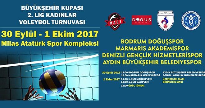 Büyükşehir'den 2. Lig Kadınlar Voleybol Turnuvası