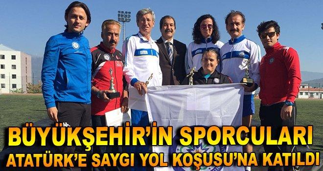 Büyükşehir'in sporcuları Atatürk'e Saygı Yol Koşusu'na Katıldı