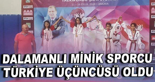 Dalamanlı minik sporcu Türkiye üçüncüsü oldu