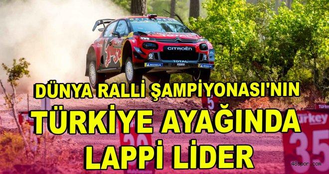 Dünya Ralli Şampiyonası'nın Türkiye ayağında Lappi lider