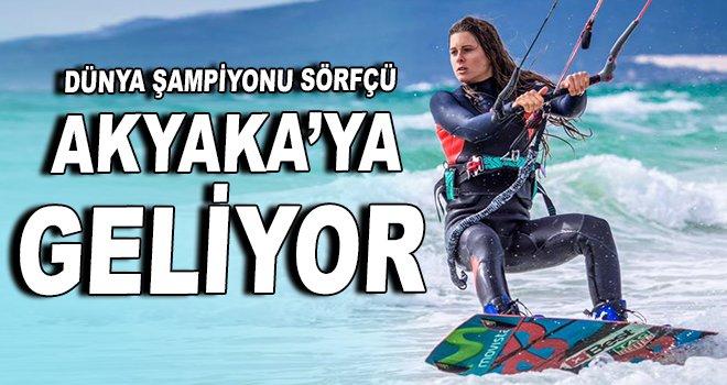 Dünya şampiyonu sörfçü Akyaka'ya geliyor