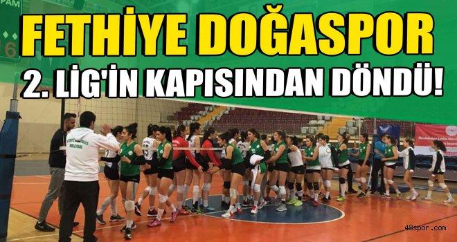 Fethiye Doğaspor 2. Lig'in kapısından döndü!