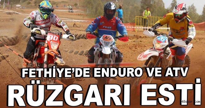 Fethiye'de enduro ve ATV rüzgarı esti