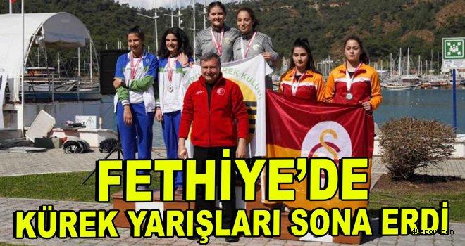 Fethiye'de kürek yarışları sona erdi