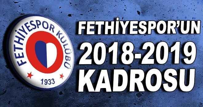 Fethiyespor'un 2018-2019 kadrosu