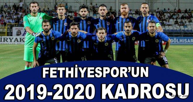 Fethiyespor'un 2019-2020 kadrosu