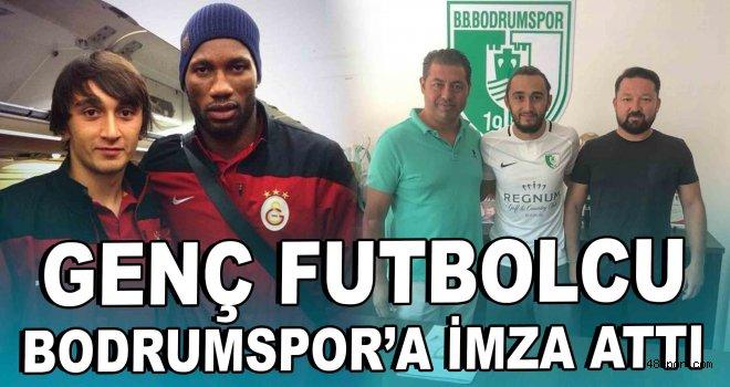 Genç futbolcu Bodrumspor'a imza attı