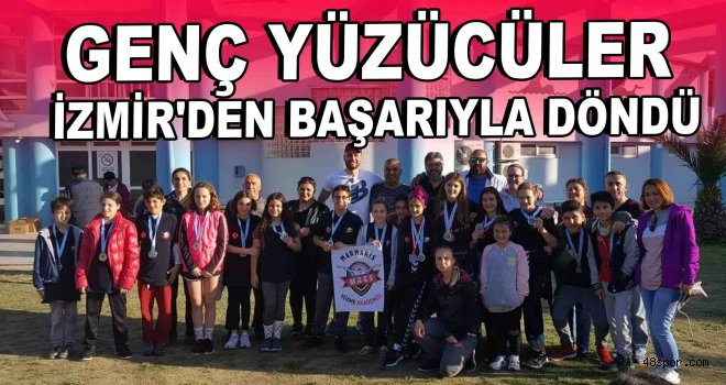 Genç yüzücüler İzmir'den başarıyla döndü!