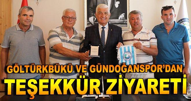 Göltürkbükü ve Gündoğanspor'dan teşekkür ziyareti