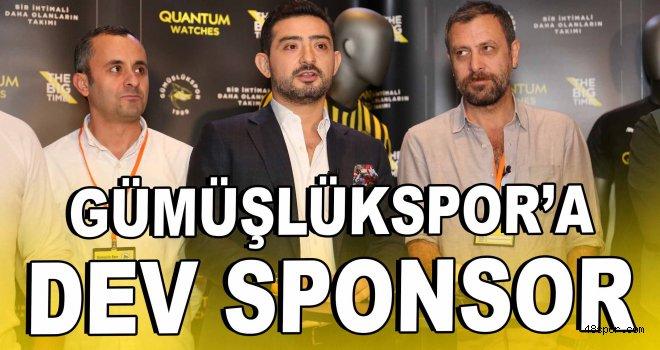 Gümüşlükspor'a dev sponsor