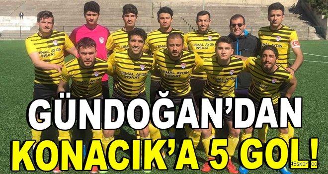 Gündoğan'dan Konacık'a 5 gol!