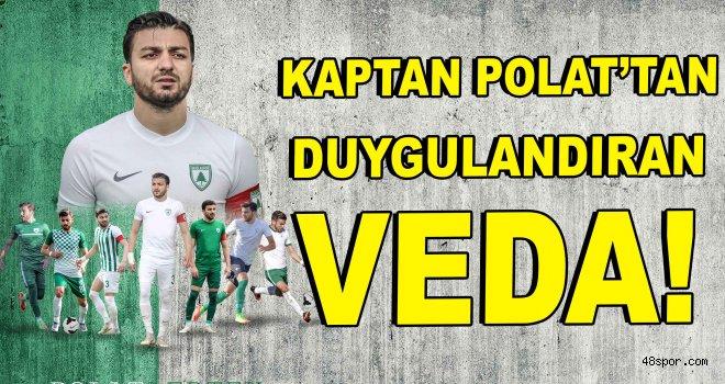 Kaptan Polat'tan duygulandıran veda!