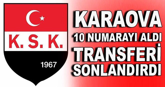 Karaovaspor ''10 numarayı'' aldı transferi sonlandırdı