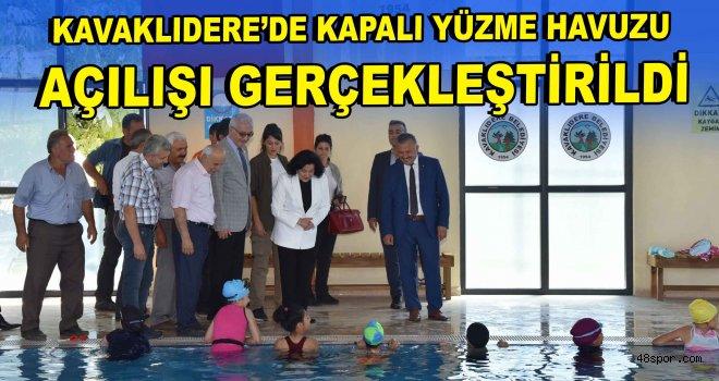 Kavaklıdere'de Kapalı Yüzme Havuzu açılışı gerçekleştirildi