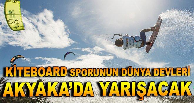 Kiteboard sporunun dünya devleri Akyaka'da yarışacak