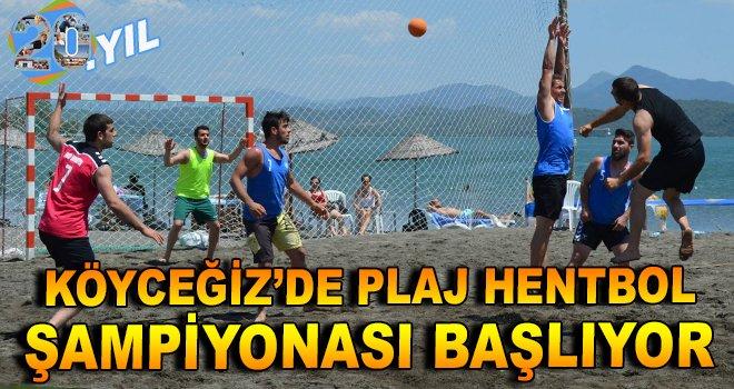 Köyceğiz'de Plaj Hentbol Şampiyonası Başlıyor