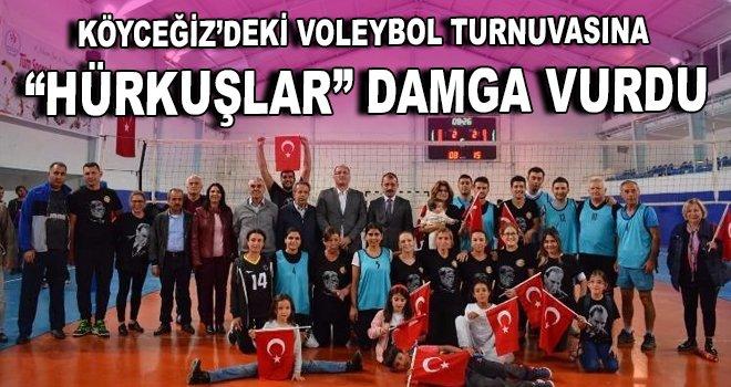 """Köyceğiz'deki voleybol turnuvasına """"Hürkuşlar"""" damga vurdu"""