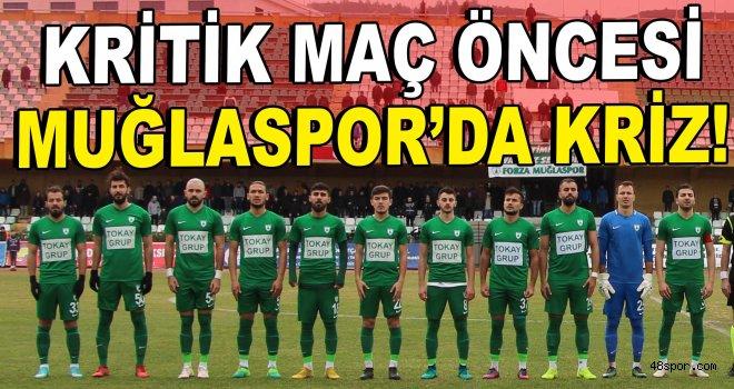 Kritik maç öncesi Muğlaspor'da kriz!