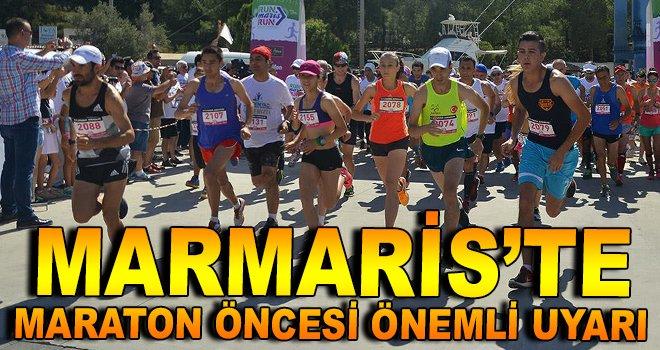 Maraton Öncesi Önemli Uyarı