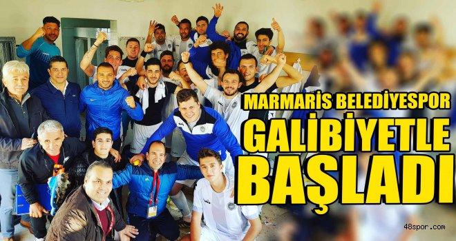 Marmaris Belediyespor galibiyetle başladı