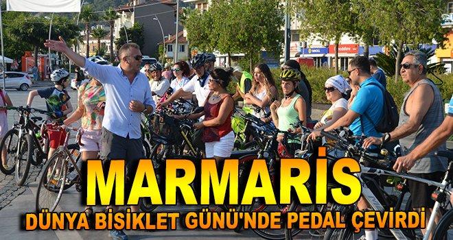 Marmaris, Dünya Bisiklet Günü'nde pedal çevirdi