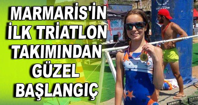 Marmaris'in ilk triatlon takımından güzel başlangıç