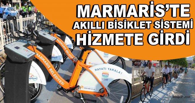 Marmaris'te akıllı bisiklet sistemi hizmete girdi