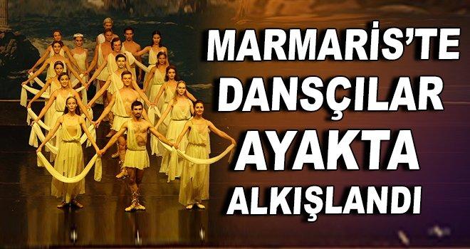 Marmaris'te dansçılar ayakta alkışlandı