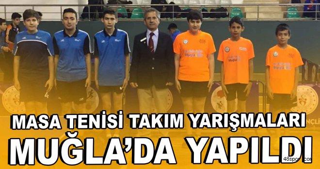 Masa tenisi takım yarışmaları Muğla'da yapıldı