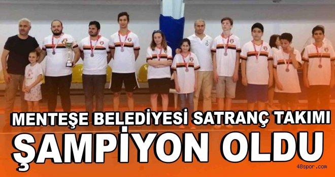 Menteşe Belediyesi Satranç Takımı şampiyon oldu