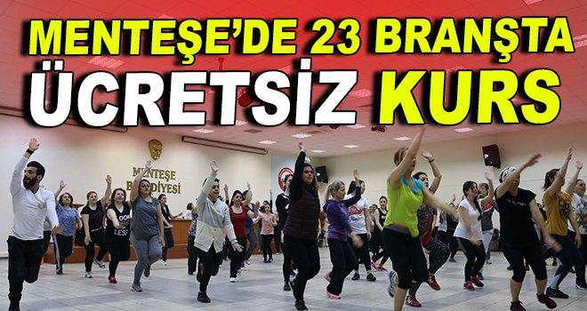 Menteşe'de ''23 Branşta'' ücretsiz kurs