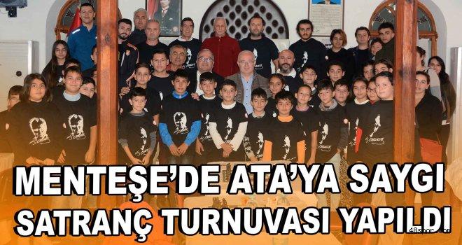 Menteşe'de Ata'ya Saygı Satranç Turnuvası yapıldı