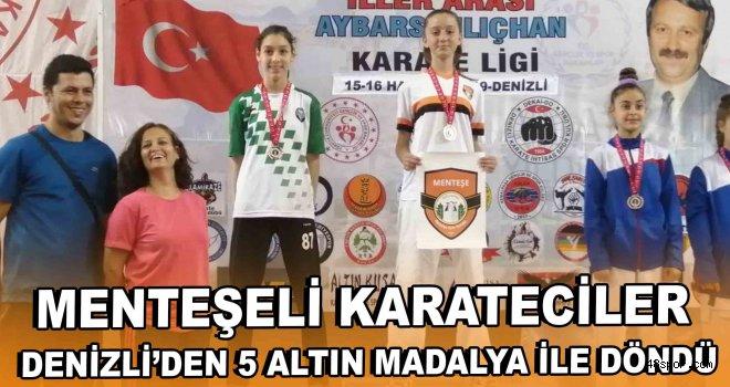 Menteşeli Karateciler Denizli'den 5 Altın Madalya İle Döndü