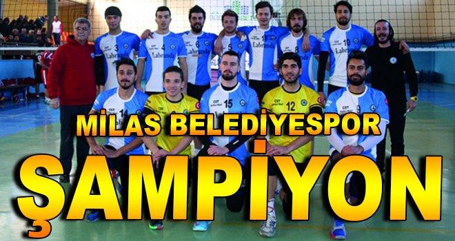 Milas Belediyespor ''Şampiyon''