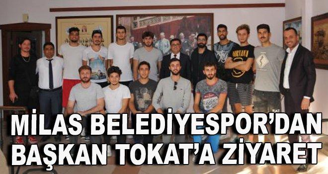 Milas BElediyespor'dan Başkan Tokat'a ziyaret