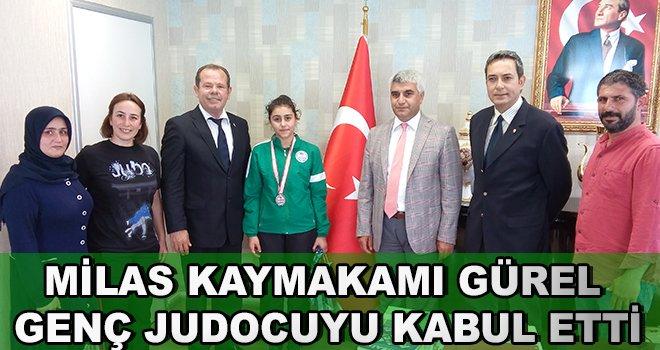 Milas Kaymakamı Gürel Genç Judocuyu Kabul Etti