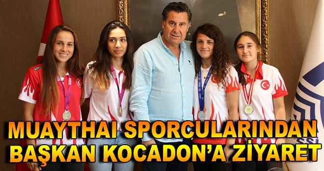Muaythai sporcularından Başkan Kocadon'a ziyaret