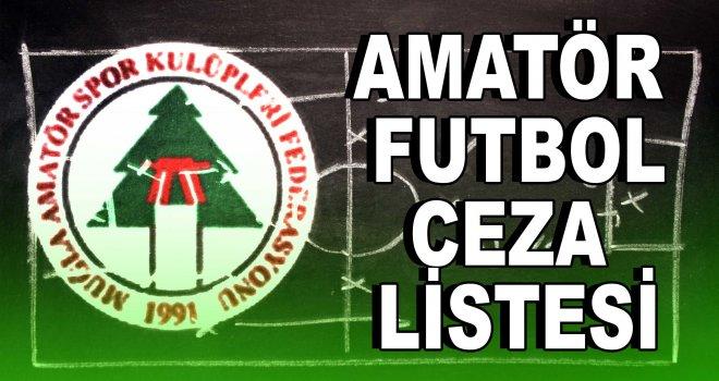 Muğla amatör futbol ceza listesi