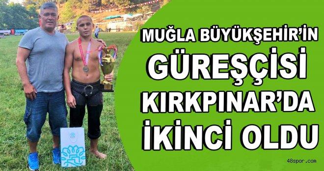 Muğla Büyükşehir'in güreşçisi Kırkpınar'da ikinci oldu