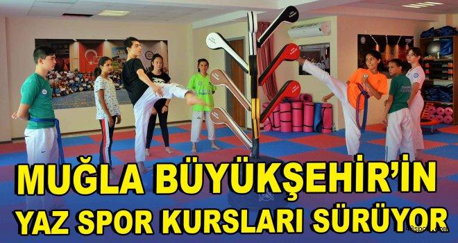 Muğla Büyükşehir'in Yaz Spor kursları sürüyor